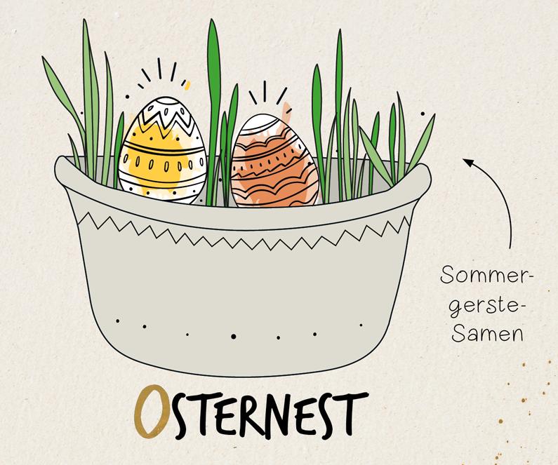 Osternest Samentüte Sommergerste